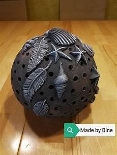 Keramik Kugel Windlicht Maritim Mit Muscheln In 2019