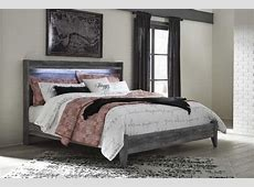 Ashley Furniture Baystorm Gray King Panel Bed   The Classy