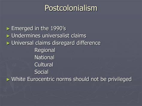 Postcolonial Critique