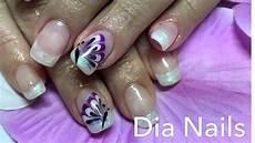 schmetterling nageldesign nail mit gel butterfly