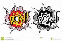 Cartoon Explosion Pop Art Style Stock Vector