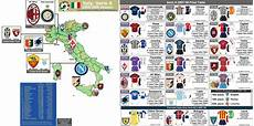 Italy Serie A Clubs In The 2008 09 Season With 07 08