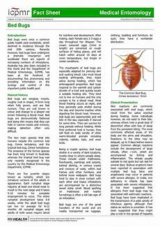 bed bugs fact sheet