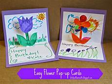 Geburtstag Karte Basteln - kitchen floor crafts easy flower pop up cards