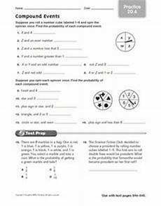 compound probability worksheets 7th grade 6017 compound events practice 20 6 worksheet for 6th 8th grade lesson planet