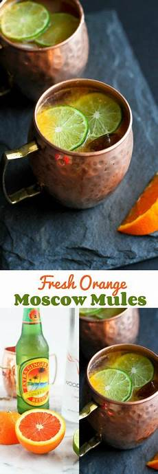fresh orange moscow mule recipe cookin canuck