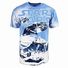 mens wars snow drift t shirt blue