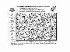 colour worksheets ks2 19238 percentages colour by numbers teaching resources