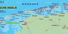 Ostfriesische Inseln Karte - karte ostfriesische inseln insel in deutschland