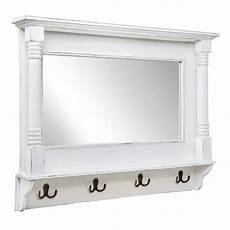 wandspiegel mit ablage landhaus wandspiegel shabby wei 223 verziert spiegel mit metallhaken