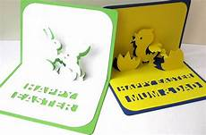 3d Karten Selber Machen - personalised easter and bunnies pop up card by ruth