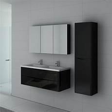 meuble noir salle de bain meuble 2 vasques noir laqu 233 ensemble de salle de bain