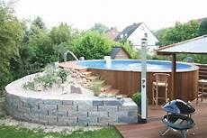stahlwandpool mit holz verkleiden bildergebnis f 252 r pools mit holz umrandet pool im garten