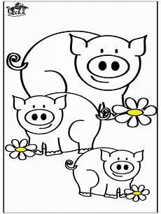 Ausmalbilder Schweine Bauernhof Animali Maiali Az Colorare