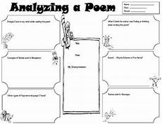 poetry elements worksheets 25266 graphic organizer for student to analyze a poem its elements grades 4 poetry lessons