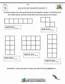 halving shapes worksheet eyfs 1106 fraction math worksheets