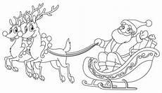 ausmalbild weihnachten weihnachtsmann mit