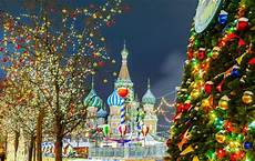 winter and new year in the russian capitals