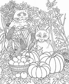 freebie friday autumn cats coloring book ty page