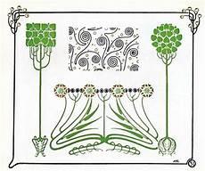Jugendstil Ornamente Floral 1910 Jugendstil