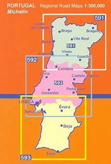portugal michelin regional road maps stanfords