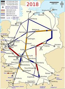List Of Intercity Express Lines In Germany