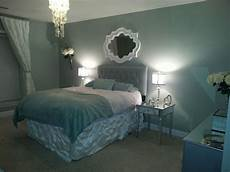 bedroom makeover behr rhino paint mirrored furniture upholstered headboard design