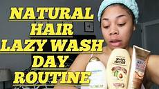 natural hair wash day routine lazy edition youtube