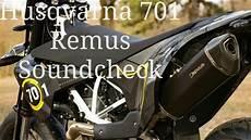 husqvarna 701 2017 remus soundcheck
