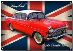 VAUXHALL CRESTA PA METAL SIGNCLASSIC CARS1960S
