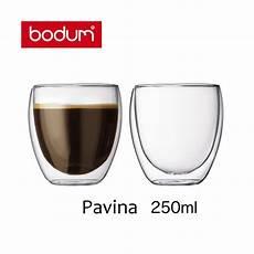 bicchieri bodum bicchieri in vetro borosilicato 0 25 l pavina bodum unit 224