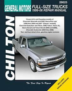 chilton car manuals free download 2006 chevrolet silverado hybrid navigation system gm avalanche silverado sierra suburban tahoe yukon chilton repair manual 1999 2006