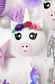 Diy Unicorn Paper Lantern Decorations Lou