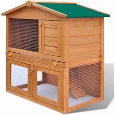 cage pour lapin exterieur vidaxl cage clapier ext 233 rieur en bois pour lapins 3 porte