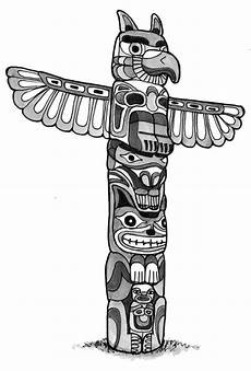 41351 totem poles animal figure totem poles coloring page
