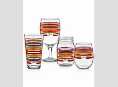 Fiesta Scarlet Stripe Glassware Collection, Only at Macy's