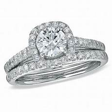 1 3 4 ct t w diamond framed bridal in 14k white gold engagement rings wedding zales