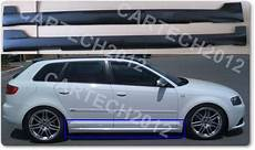 audi a3 8p 2004 2011 side skirts look votex