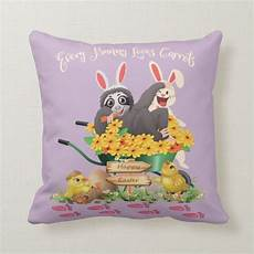 Sloth Easter Basket Ideas Everyday Savvy Happy Easter Sloth And White Rabbit Throw Pillow Zazzle