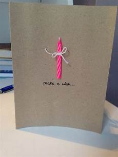 Diy Birthday Card Simple Candle With Bow Make A Wish