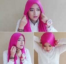 Cara Memakai Jilbab Menutup Dada Dengan Scarf Satin Untuk