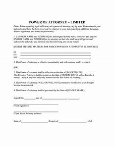 power of attorney template doliquid