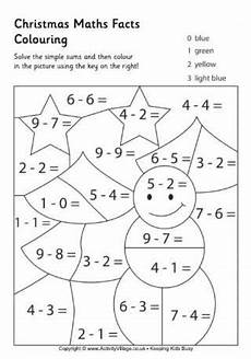 christmas maths facts colouring page 2 homeschool ideas pinterest math 233 matiques calcul