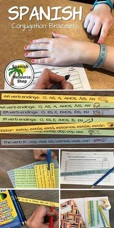 multiplication worksheets 15542 conjugation bracelets language learning learning resources