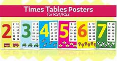 worksheets for preschool 19197 times tables posters for ks1 and ks2 key stage 2 times tables free teaching resources