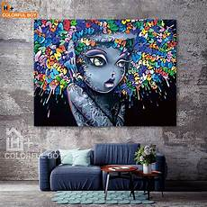 6 creative bedrooms with artwork and diverse colorfulboy modern creative abstract graffiti canvas