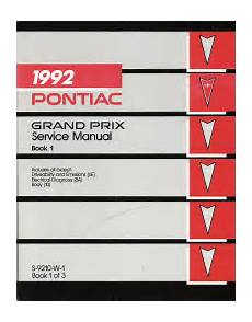 free service manuals online 1984 pontiac grand prix parental controls 1992 pontiac grand prix service manual volume 1 2 3