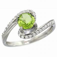 peridot engagement rings