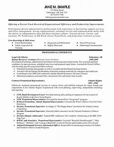 sle resume objective for human resources assistant