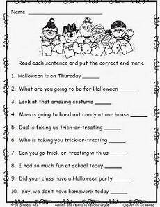 halloween worksheets grade 2 free halloween worksheets for 2nd grade free end punctuation worksheet school stuff second grade